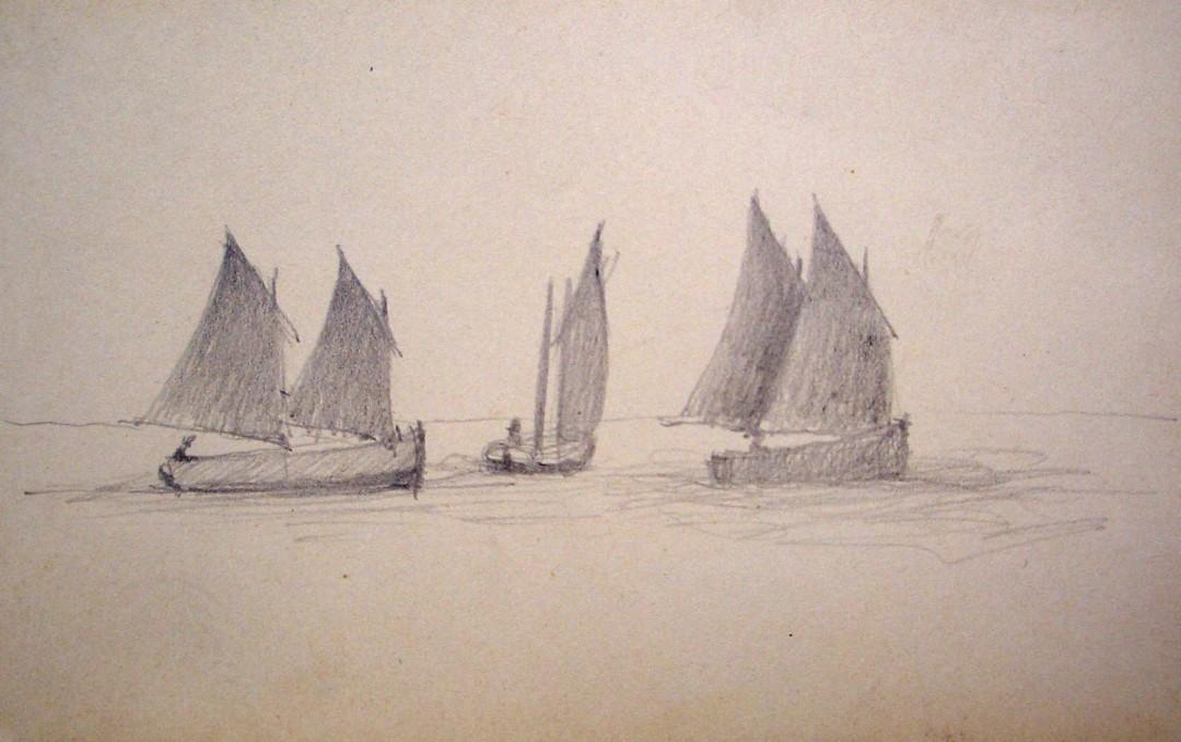 Un voilier et deux Flambarts en pêche à Locquémeau